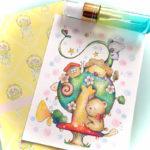 動物のイラスト 色鉛筆